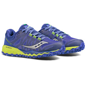 saucony Peregrine 7 Running Shoes Women blue/citron